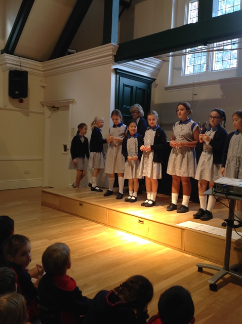 End of half term assembly