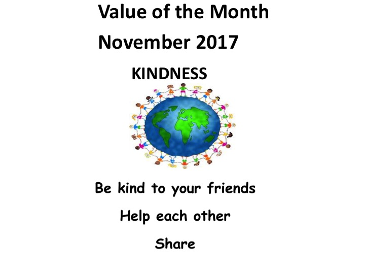 November Value of the Month: Kindness
