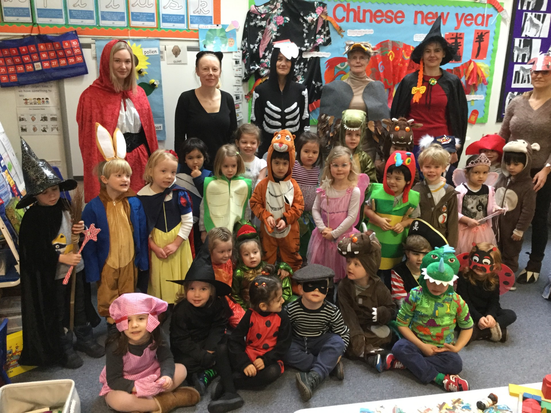 Fun in the snow and World Book Day in the Nursery