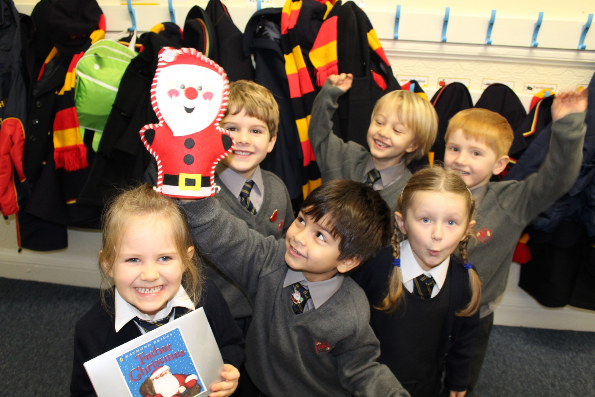 Reception enjoy seeing Father Christmas at The Lyric