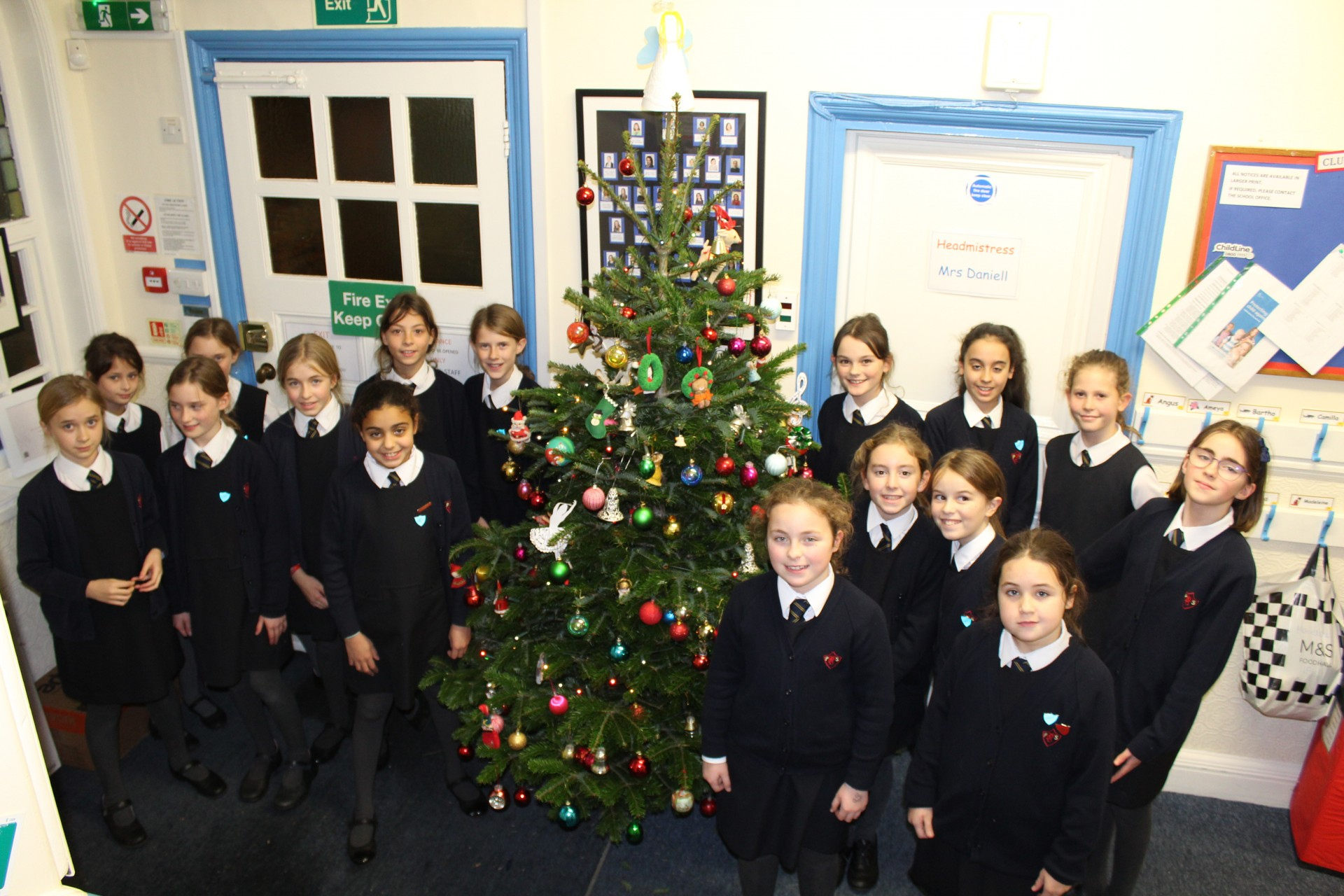 Christmas tree decorating with Form 6!