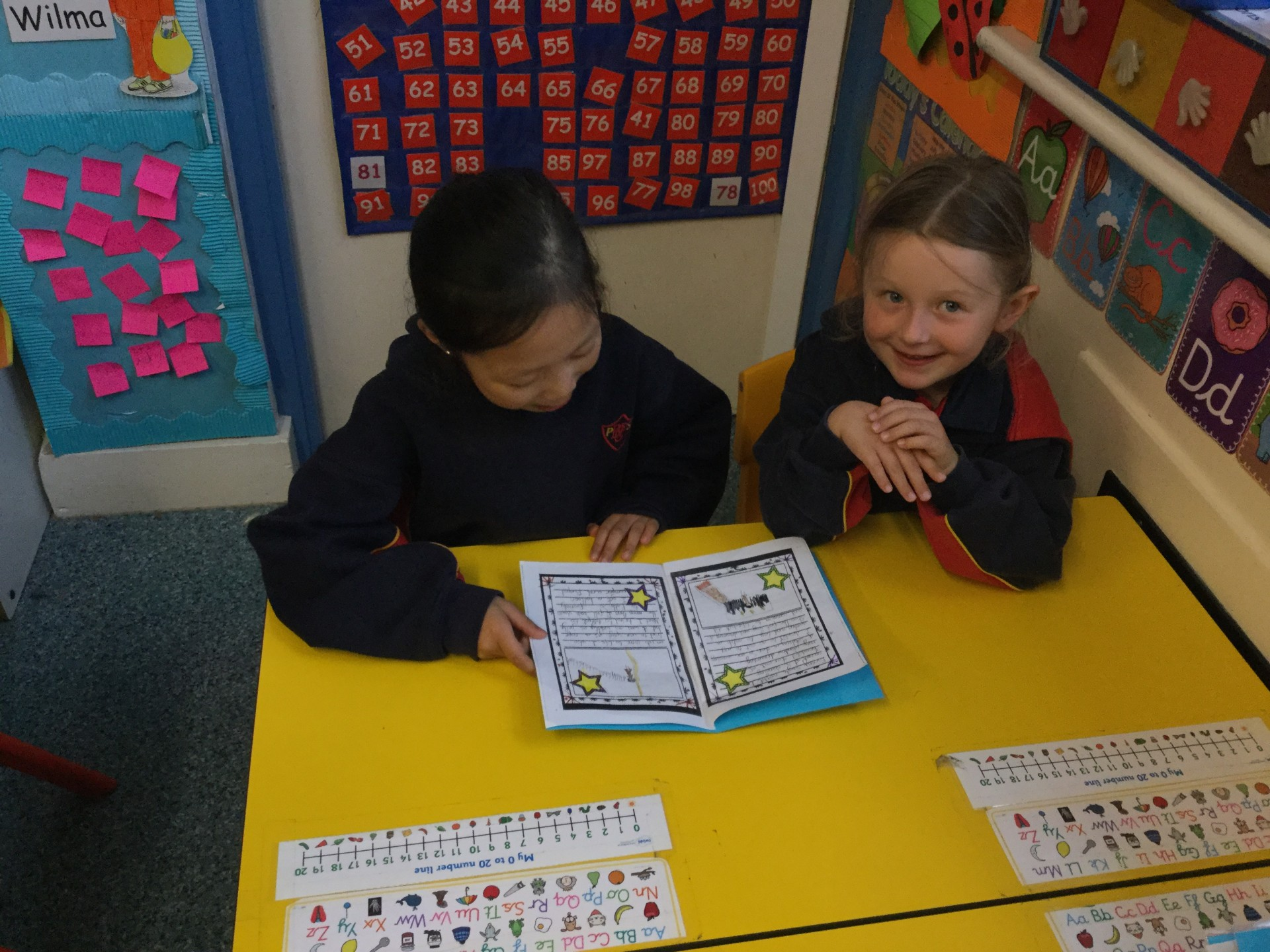 Year 2 read 'How to Catch a Star' with Reception Children