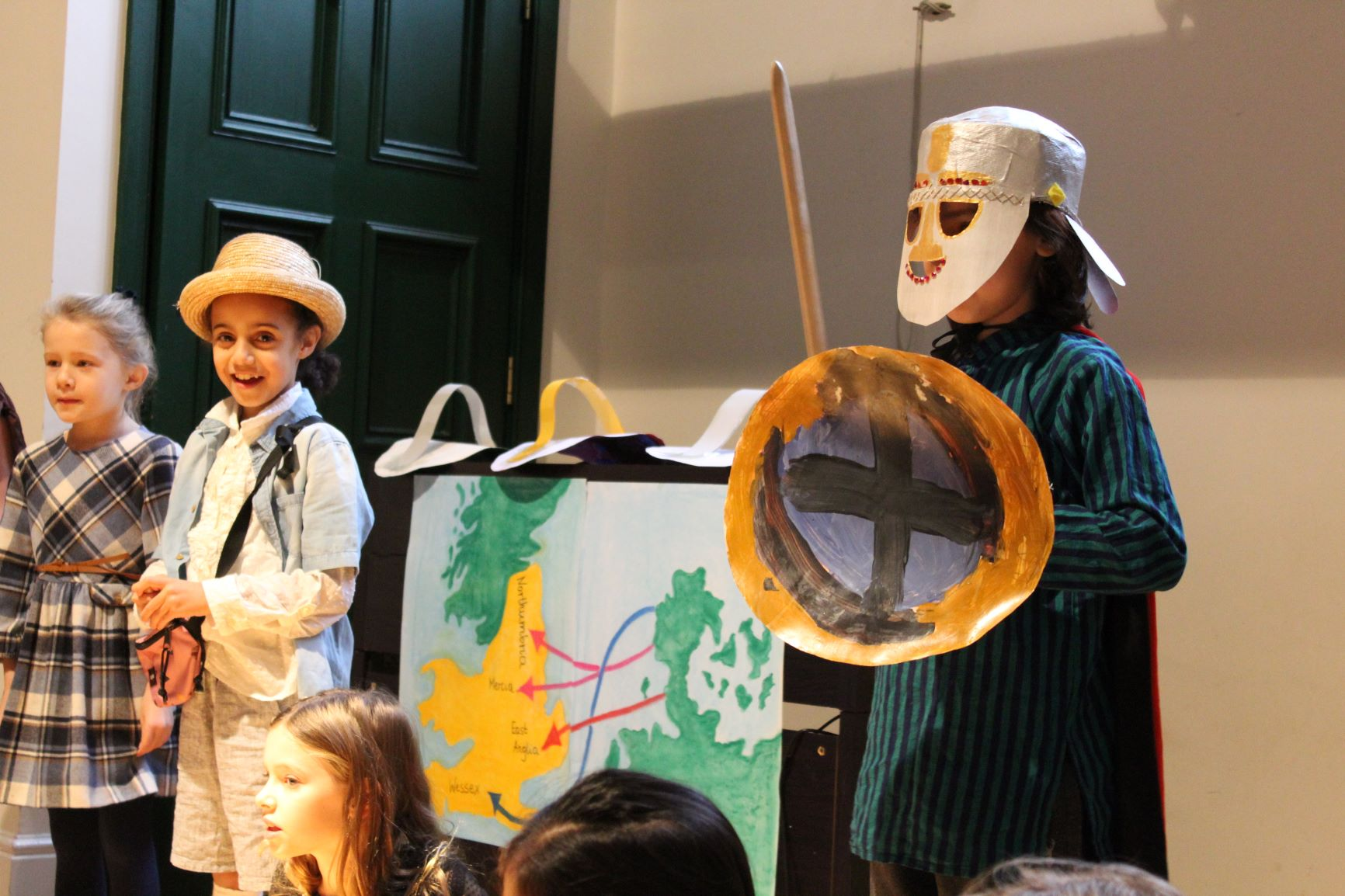 Discovering the Anglo-Saxons in Form 4 assembly.