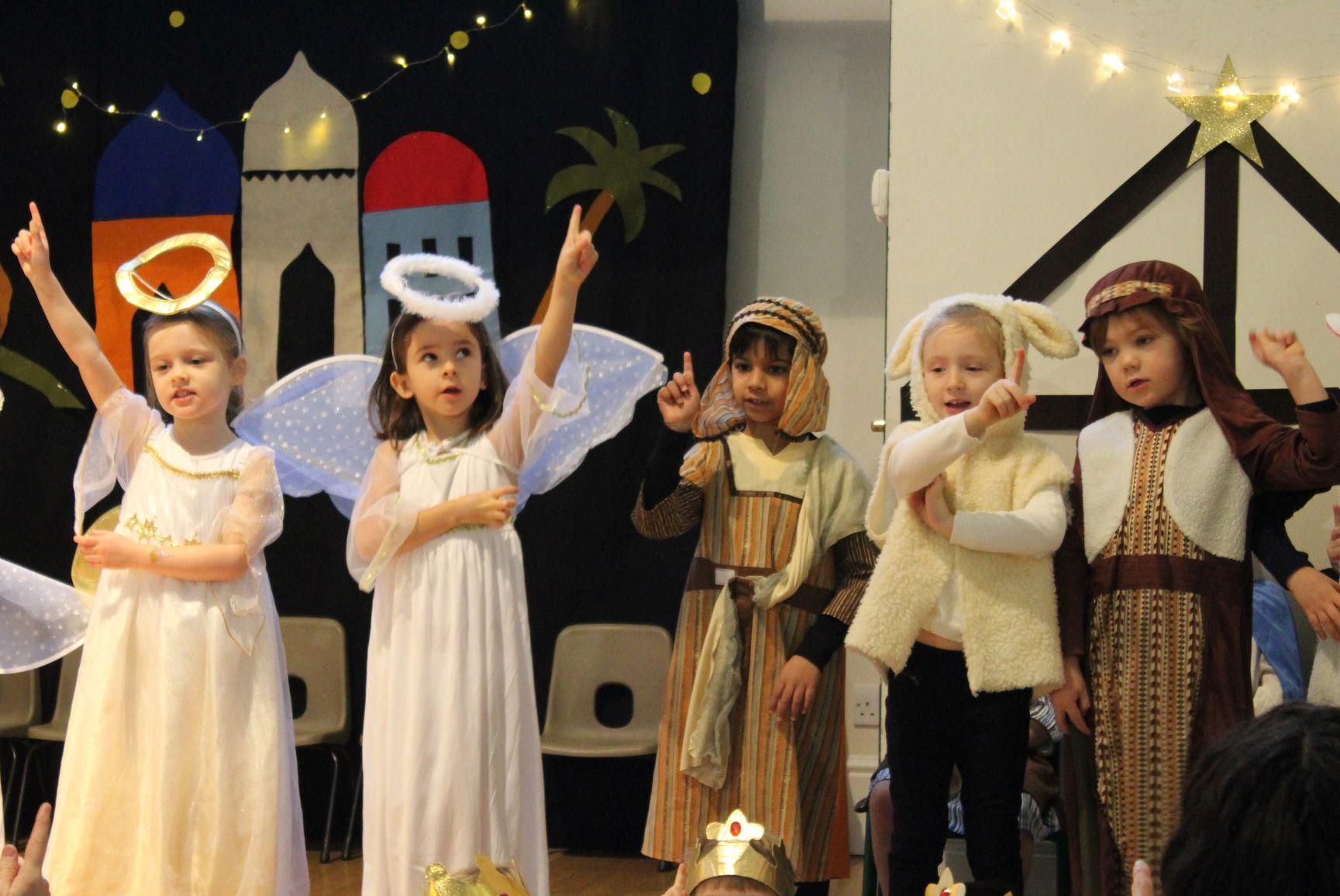 Reception perform their Christmas Nativity.