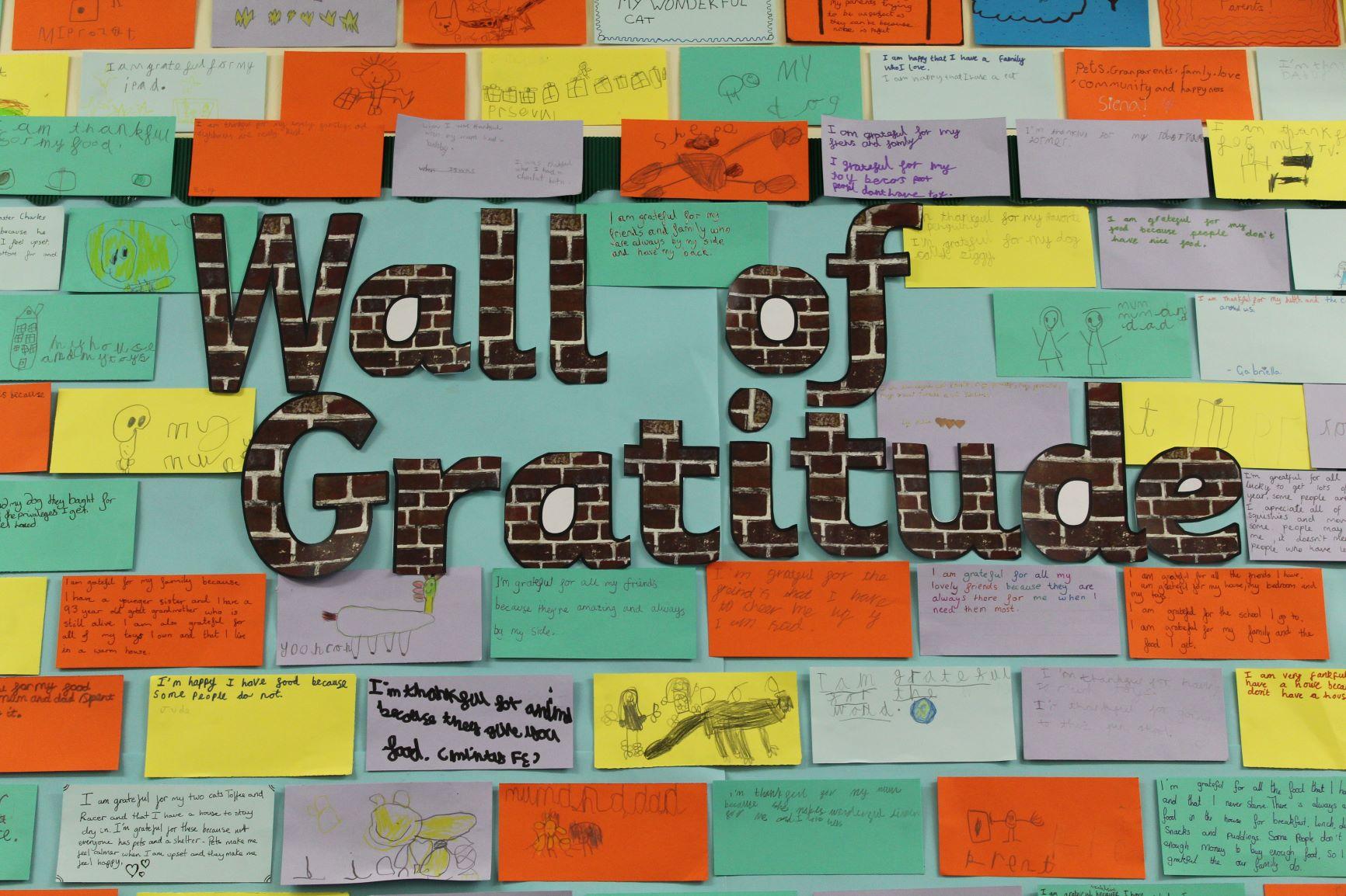 The CBPPS Gratitude Wall